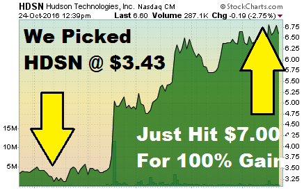 HDSN - A Penny Stock Pick Double